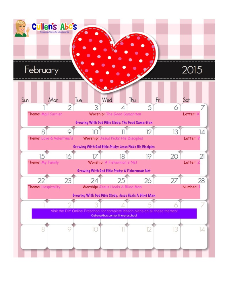 Calendar Category Ideas : Preschool calendars christian children activities